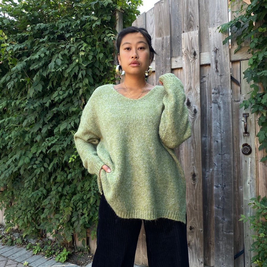 SUE Oversized V Neck Sweater