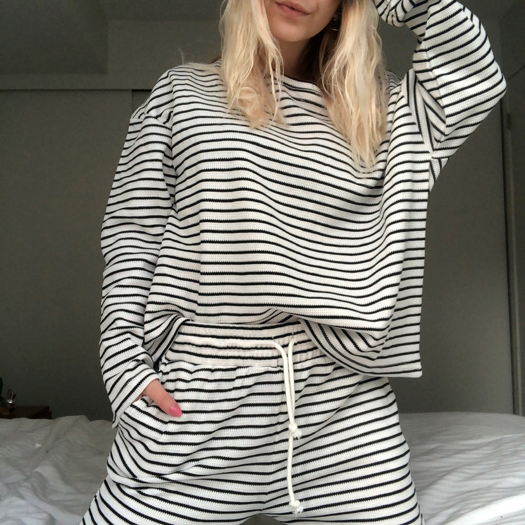 PIPER Waffle Long Sleeve Top