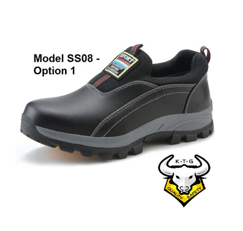 KTG Safety Steel Toe Steel Sole Slip On Sports Safety Shoes Singapore Model SS08