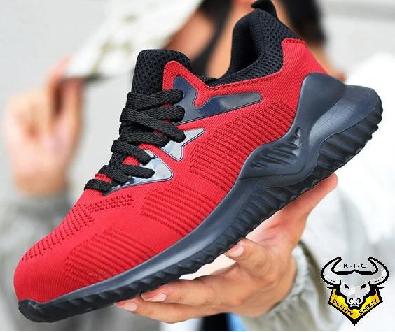 Steel Toe Sports Safety Shoes - Model SS54 - Red