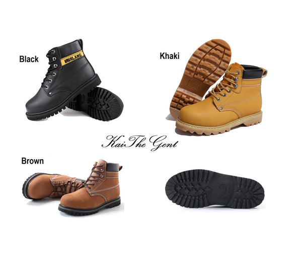 Detailed images of KaiTheGent steel toe safety work boots model SS34