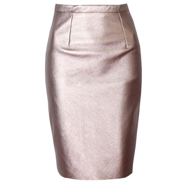 "Neophil Sexy Faux Fur Leather Pu High Waist Midi Women Pencil Skirts  ""+Shiriza.com + Spring + Summer"" Pink Office Wrap Bodycon Short Girls Tutu Saia S08019"