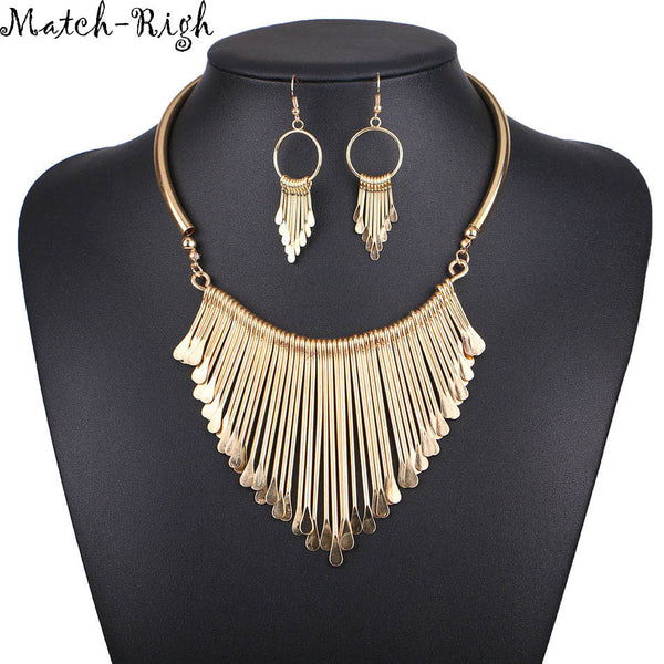 Quality Ladies Necklace Alloy Necklaces Pendants Tassel +Shiriza.com Jewelry Ethnic Necklace Women Accessories