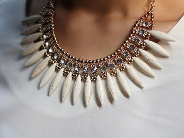 Bohemian Style blue Tassels Drop Choker Chain Women +Shiriza.com  Jewelry Necklaces & Pendants Collar Jewelry For Woman