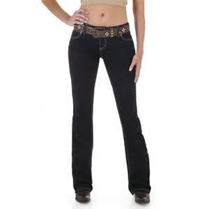 Womens Wrangler Jeans Premium Patch Jackson Jewel Booty Up Mae