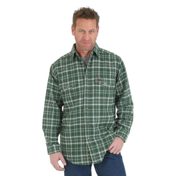 Wrangler RIGGS WORKWEAR Heavy Weight Flannel Shirt - Green