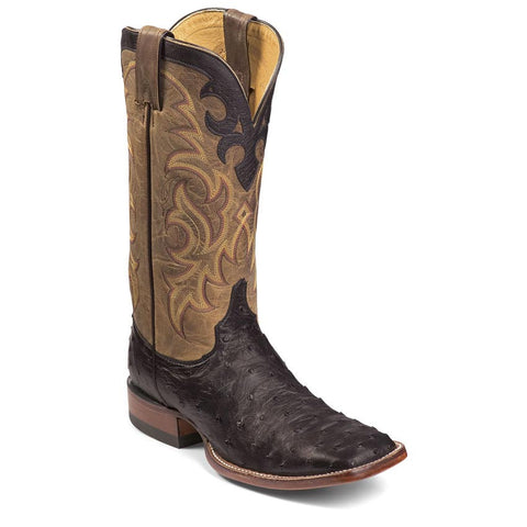 Justin Men's Full Quill Ostich Boots