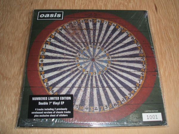 "oasis stop the clocks 2 × Vinyl 7"" 45 RPM EP Compilation Limited Edition Numbered"