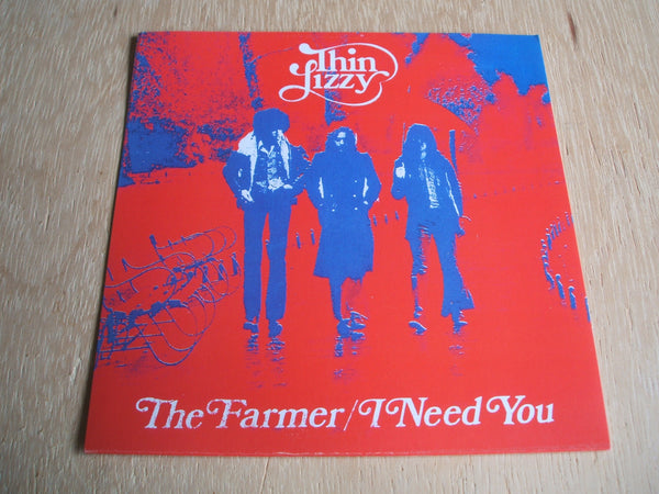 "Thin Lizzy ‎– The Farmer / I Need You red vinyl repro 7"" single"