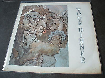 "your dinner  compulsion   power over you  1980's  uk 12"" vinyl single  excellent"