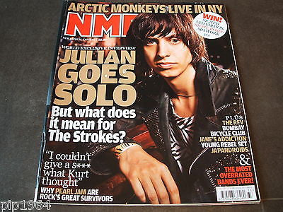 new musical express  nme  15 aug  2009   front cover  the strokes