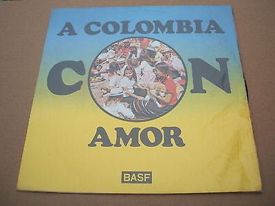 a colombia con amor  south american / colombian pressing lp latin