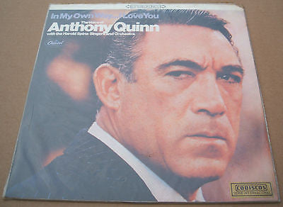 Anthony quinn in my own way south american / colombian montilla label pressing