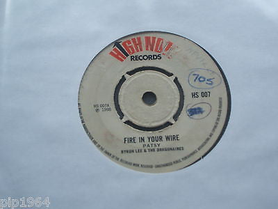 "patsy   fire in your wire  1968 uk high note label ska calipso 7"" single hs 007"