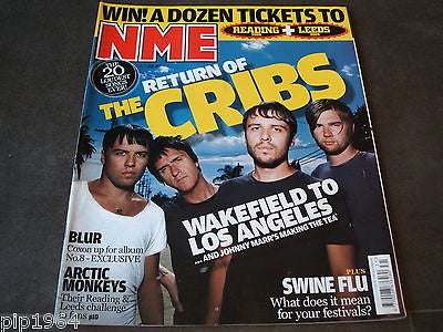 new musical express  nme  1st aug  2009   front cover  the cribs