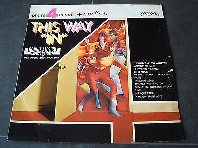 this way in   ronnie aldrich 1960's south american pressed vinyl lp