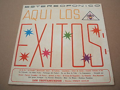 aqui los exitos los trotamundos   south american / colombian pressing lp latin