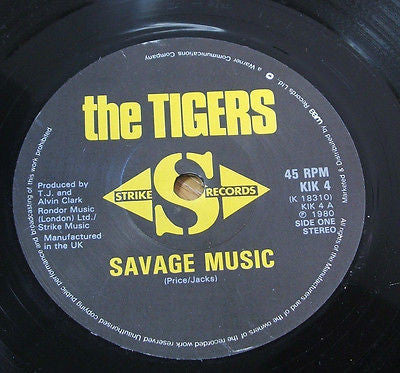 "the tigers savage music 1980  original uk issue vinyl 7"" 45 powerpop newave"