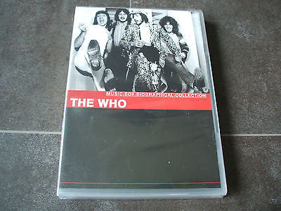 the who music box biographical collection uk dvd plays worldwide sealed mint