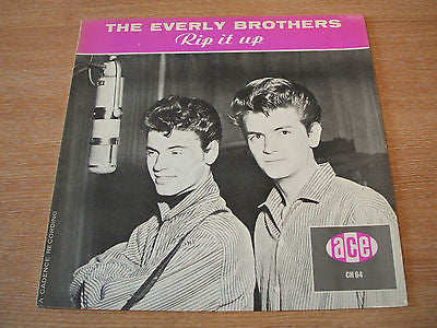 the everly brothers rip it up 1983  uk ace label vinyl lp  excellent
