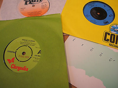 "collection of 4 x pop /  rock vinyl 7"" singles all excellent condition lot 3"