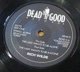 "rich wilde the lady wants to be alone 1979 uk dead good label vinyl 7"" vinyl 45"