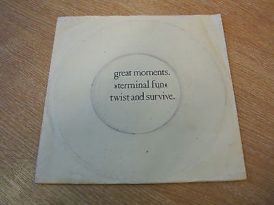 "terminal fun great moments 1982  uk  7"" vinyl single 45  rare experimental synth"
