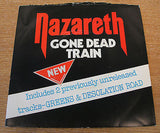 "nazareth gone dead train 1977 uk mountain  label vinyl 7"" single naz 2"