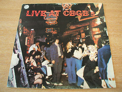 live at cbgb's the home of underground rock 1976 uk atlantic label dbl  lp mint-