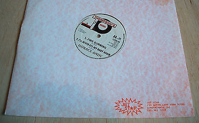 "horace andy fire burning uk thompson sound   label 12"" vinyl single  ex roots"
