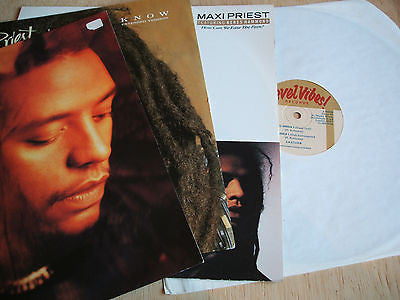 "maxi priest  4 x 12"" vinyl singles lot collection  lot 2 uk issues all excellent"