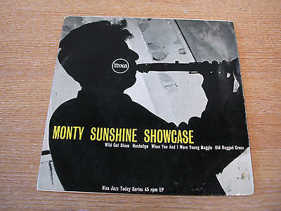 monty sunshine showcase ep  1957 uk pye nixa label vinyl 45  nje 1050