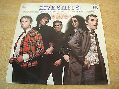 "live stiffs stiff records compilation 1979 uk  12"" vinyl lp mfp label  issue"