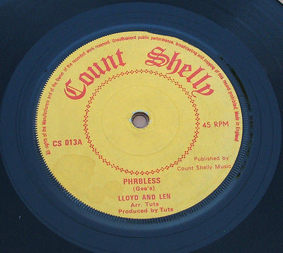 "lloyd & len    phrbless   original uk count shelly label 7"" cs 013"