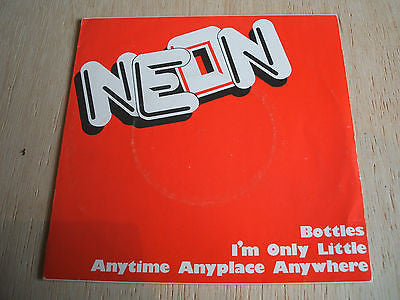 "neon anytime anyplace anywhere 1978 uk sensible vinyl 7"" 45  fab  3  rare punk"