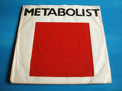 "metabolist ep original 1979 uk dromm label vinyl 7"" 45 silk screen sleeve"