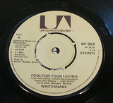 "whitesnake fool for your loving 1980 uk united artist label vinyl 7"" single ex"