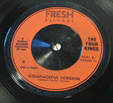 "the four kings   loving you is no discrace  1980 uk fresh  label   7"" vinyl 45"