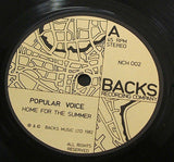 "popular voice home for the summer 1982 uk  issue vinyl 7"" 45 synth newave"