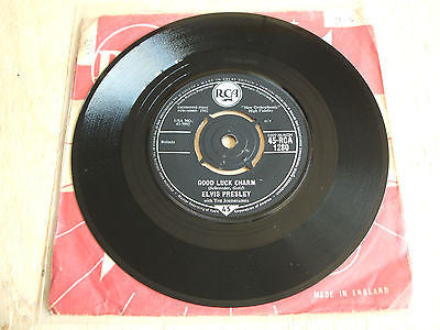 "elvis presley  good luck charm  1962  uk issue  7"" vinyl rca 1280  label varient"