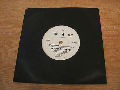 "michael cretu samuria 1985 uk virgin label promo only 7"" vinyl 45 synth alt"