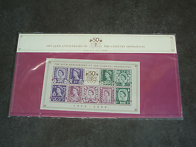 royal mail presentation pack 50th aniversary country difinitives 2008 complete