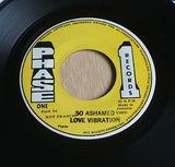 love vibration so ashamed 1978 jamaican phase 1  issue vinyl 45 roots dub rare