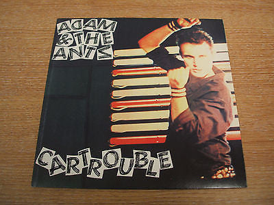 "adam & the ants cartrouble  original 1980 uk issue vinyl 7 "" single  ex ex"