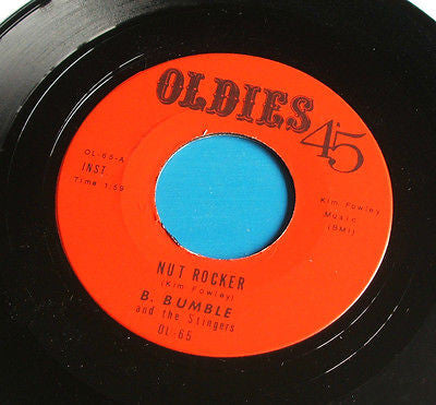 "b bumble & the stingers  nut rocker joe weaver  baby i love you so usa 7"" vinyl"