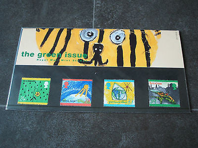 royal mail mint stamps presentation pack  green issues   1992 complete