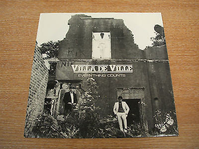 "villa de ville everything counts 1982 uk  issue  7"" vinyl  single obscure rare"
