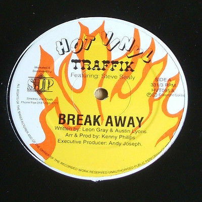 "traffik  break away / something to party hot vinyl 12"" soca calipso reggae ex ex"