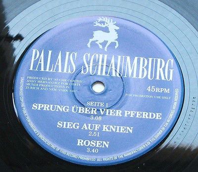 "palais schaumburg lupa 1982 12"" one sided etched german promo  near mint"