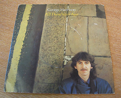 george harrison all those years ago original 1981 uk issue vinyl 45